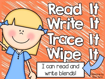 {Read It Write It} Blends Phonics Spelling Word Work Fluency Literacy Center