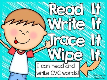 {Read It Write It} CVC words Phonics Spelling Word Work Fl