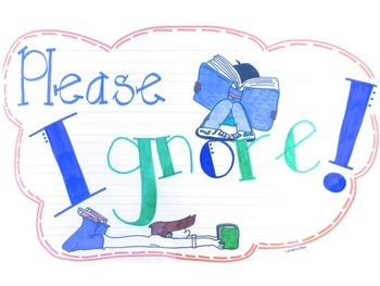 """Please Ignore"" Anchor Chart for Positive Behavior/Problem Solving"