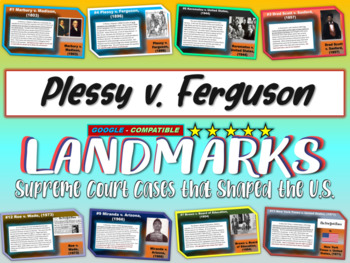 -Plessy v. Ferguson- Landmark Supreme Court Case (PPT, handouts & more)