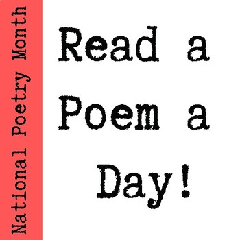 "National Poetry Month ""Poem a Day"""