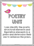 **Poetic Structural Elements Packet **Sidekick to Poetry PPT**