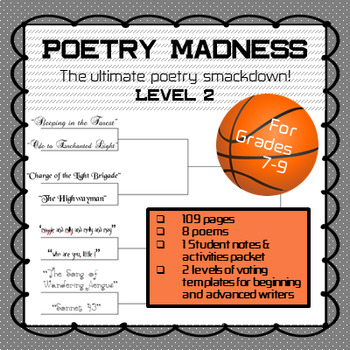 """Poetry Madness"" Middle School Poetry Tournament--Level 2"