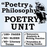 """Poetry and Philosophy"" POETRY UNIT (AP Literature/High School)"