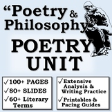 """Poetry and Philosophy"" POETRY UNIT (AP Literature/High School)"
