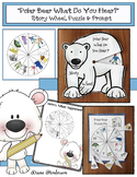 Polar Bear What Do You Hear Story Wheel Craft, Puzzle Cent
