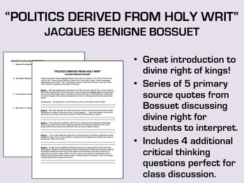 """Politics Derived from Holy Writ"" - Bossuet - Absolutism/Divine Right"