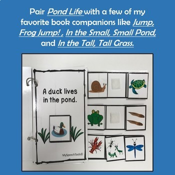 """Pond Life"" An Adapted Speech Therapy Science Vocabulary Book for Spring"
