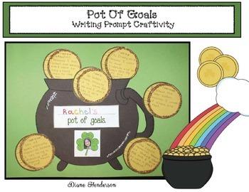 """Pot Of Goals"" Writing Prompt Craftivity"