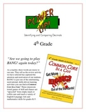 """Power Up!"" Identifying & Comparing Decimals 4th Grade Common Core Game Packet"