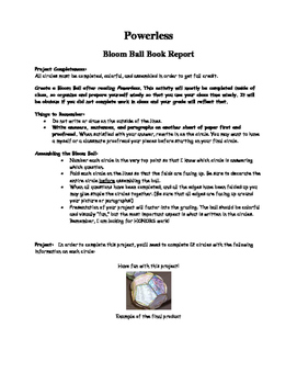 """Powerless"" Bloom Ball Book Report"