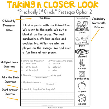 """Reading Comprehension Passages and Questions 