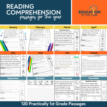 Practically 1st Grade Reading Comprehension Passages | Reading Fluency Passages