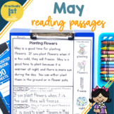 """Practically 1st Grade"" Reading Comprehension Passages for May"