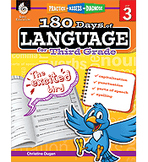 Practice, Assess, Diagnose: 180 Days of Language for Third Grade