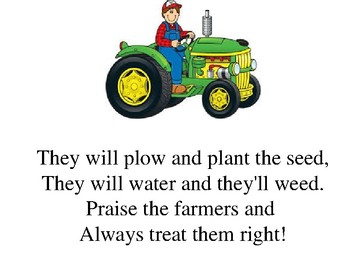 """""""Praise the Farmers"""" and original song"""