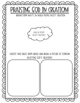 'Praising God in Creation' Brainstorm and Activity Sheet