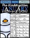 (Pre-Kindergarten) JANUARY Morning Work