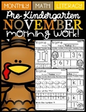 (Pre-Kindergarten) NOVEMBER Morning Work