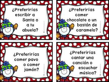 ¿Preferirías? Would You Rather - Conversation Cards for The Whole Year SPANISH