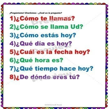 SPANISH QUESTION WORDS - ¿Cuál es la pregunta? Answers & Questions ¡Olé!
