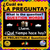 SPANISH QUESTION WORDS - ¿Cuál es la pregunta? Answers & Q