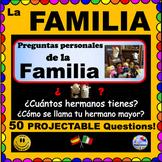 LA FAMILIA - Family Questions for Spanish class - ¡Pregúntame!