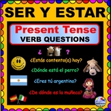 SER and ESTAR Present Tense Questions for SPANISH Class! ¡