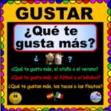 GUSTAR -  ¿Qué te gusta más?  Questions for SPANISH class - ¡Olé!