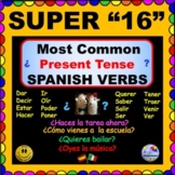 """SUPER 7 Spanish -IRREGULAR Questions with """"Super 7"""" and """"Super 16"""" Verbs"""
