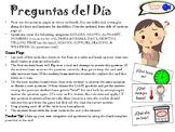 """""""¡Preguntas del Día!"""" Spanish Review Game! (Nine Categories)"""