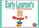 (Preschool) Early Learner's Interactive Binder Stage 1