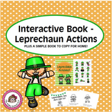 St. Patrick's Day Interactive Book - Leprechaun Actions and Simple Reader