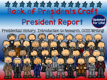 ✩Presidents' Day!  {Create-a-Book Activity & President Report Graphic Organizer}