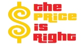 """Price Is Right"" Game- practicing money"