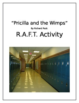 """""""Pricilla and the Wimps"""" by Richard Peck  Short Story R.A.F.T. Project"""