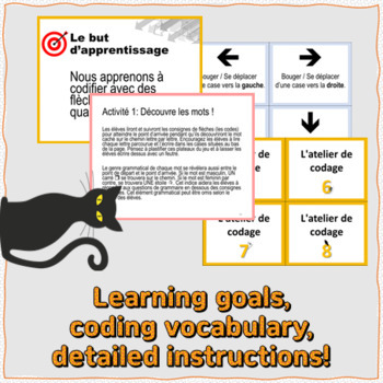 Six Halloween unplugged coding centers for Primary French Immersion Students!