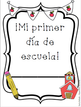 """Primer día de escuela"" Packet in SPANISH!"