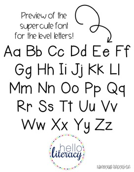 (Print Font) Farmhouse Burlap : Word Wall Letters