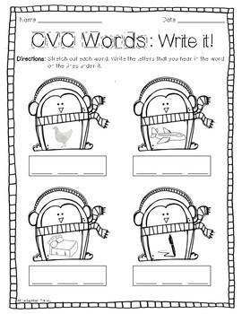 **Print & Go** CVC Printables - Penguin Themed FREEBIE