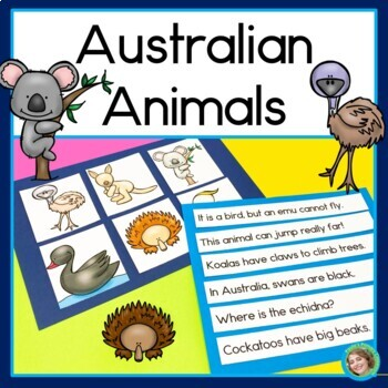 Australian Animals Sentence Picture Match