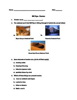 bill nye erosion worksheet worksheets releaseboard free printable worksheets and activities. Black Bedroom Furniture Sets. Home Design Ideas