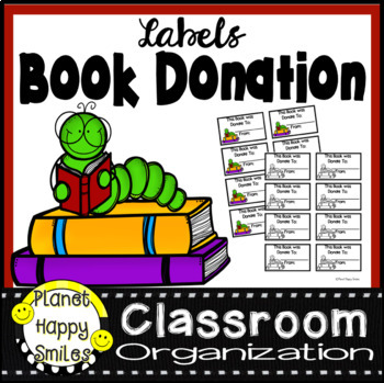 Book Donation Labels, Planet Happy Smiles