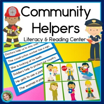 Community Helpers Sentence Picture Match Reading Center