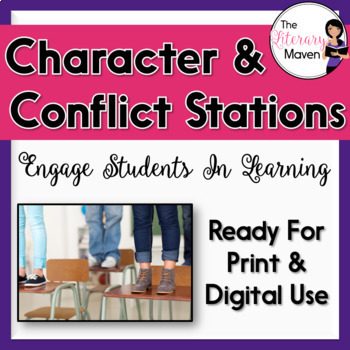 Conflict and Characterization Stations, Common Core Aligned. Get students up out of their seats and engaged in learning. Available on TpT.