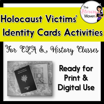 Holocaust Victims Identity Card Activities for ELA, History - CCSS Aligned, available on TpT