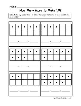 Common Core Math Kindergarten Worksheets & common worksheets ...