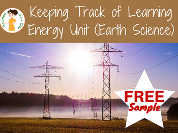 Freebie of student objectives and checklist for Energy Unit