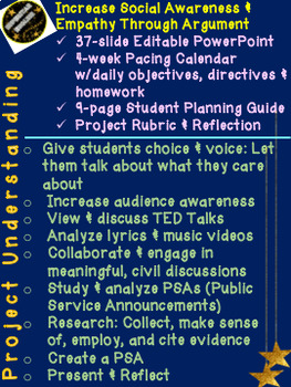 """Project Understanding"" Student Choice/Voice Empathy & Awareness PBL English"