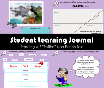 """""""Puffins"""" Book Creator to be used with Non-fiction Reading A-Z book (Level Q)"""